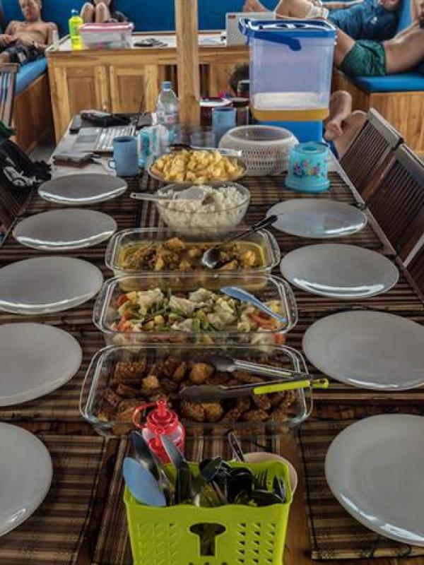 Lunch on Ratu Laut Liveaboard